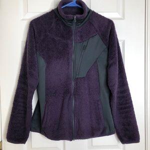 Columbia Purple Sherpa Style Jacket Size Medium
